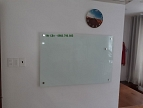 Whiteboard with glass surface 120x240cm