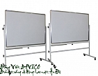 Office board - Double sides rolling portable board 80x120cm