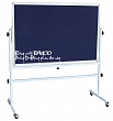 Rolling portable pin board 80x120cm