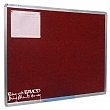 Office board - Red felt fabric pin board 80x120cm
